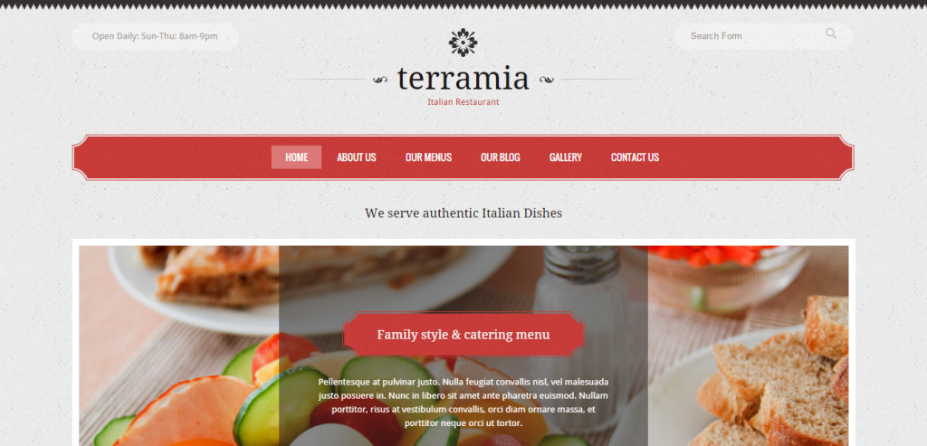 Fluid Restaurant HTML Themes