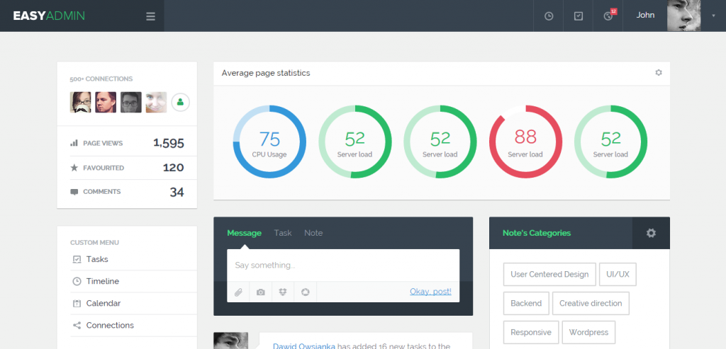 Free Bootstrap HTML Admin Templates