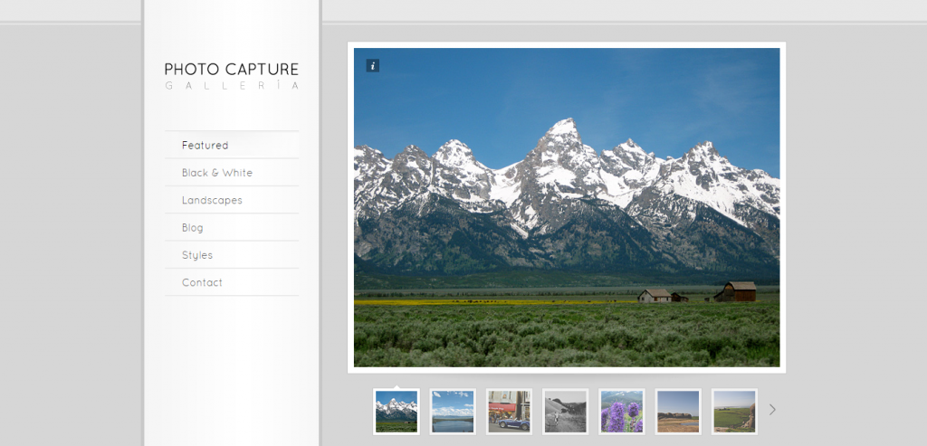 Free HTML Photography Template