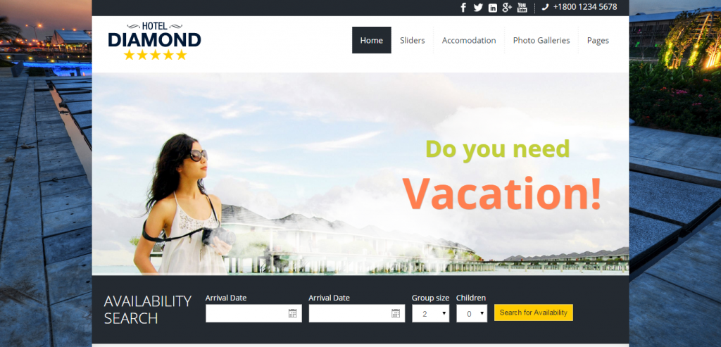 Free Hotels HTML Template