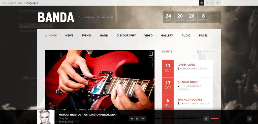 Free Music HTML Themes