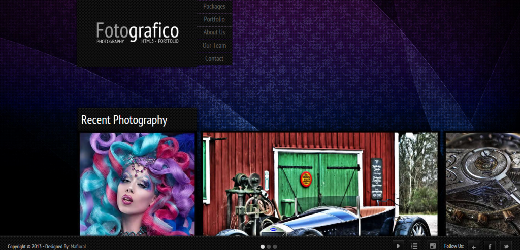 Free Photography HTML Themes