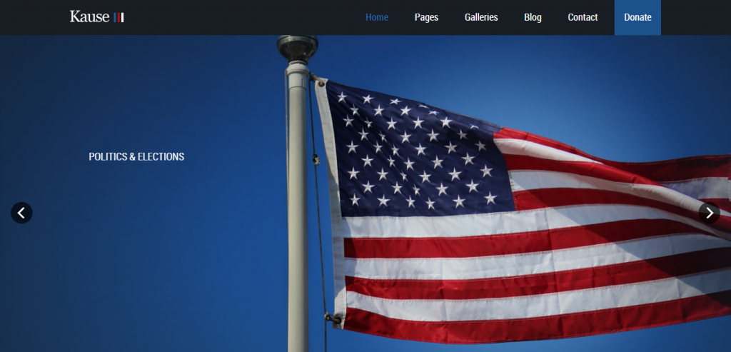 Free Political HTML Template