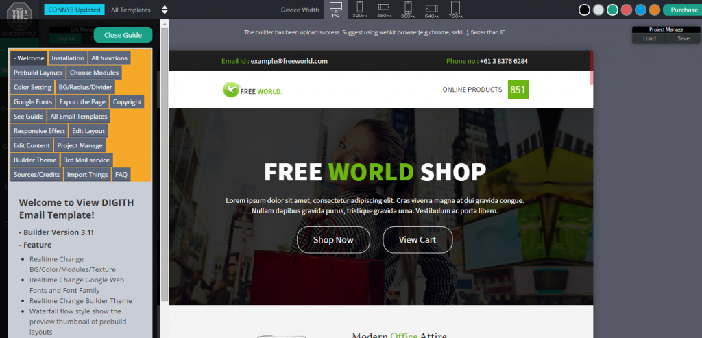 Free Responsive Mail HTML Templates