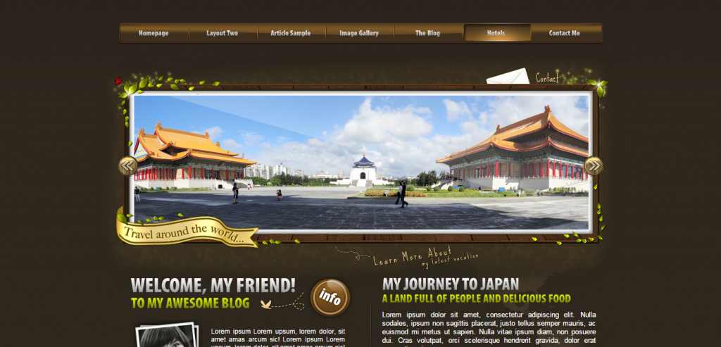 Free Travel HTML Theme