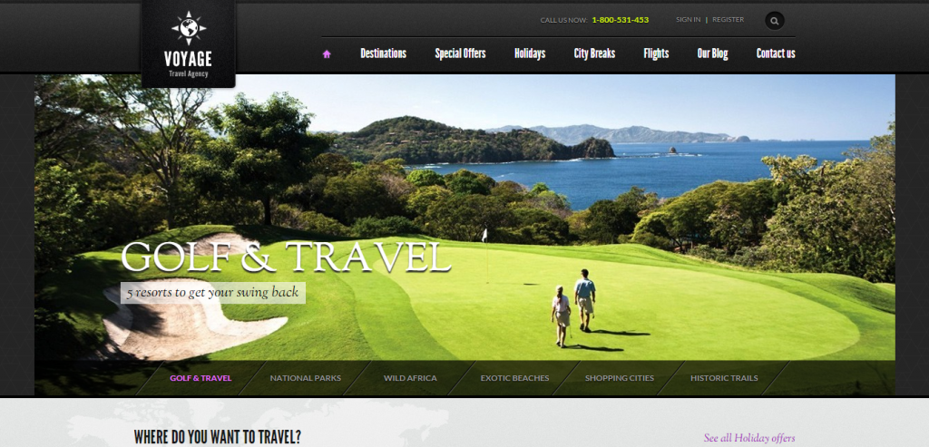 Free Travel HTML Themes