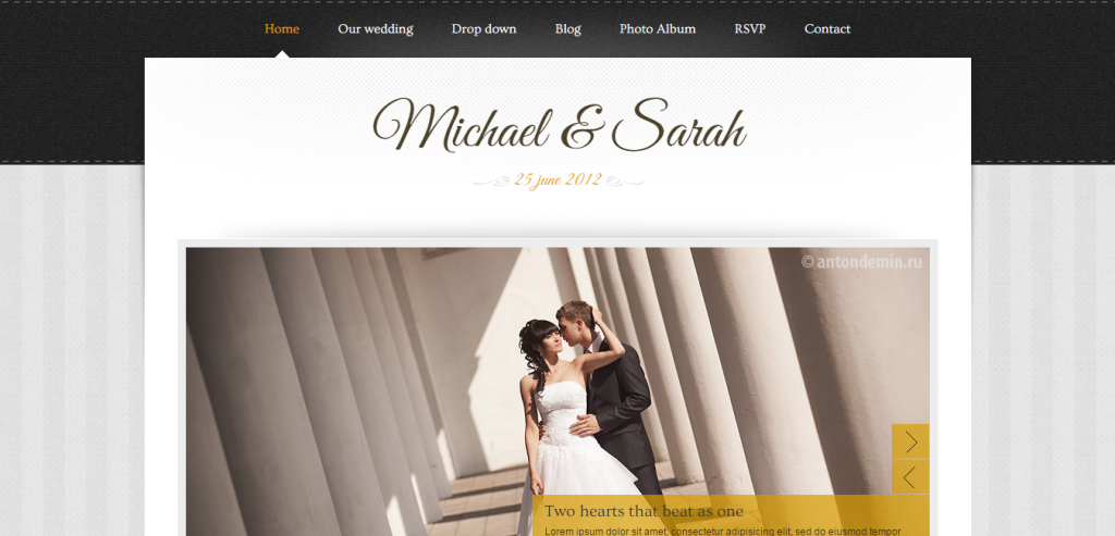 Free Wedding HTML Theme
