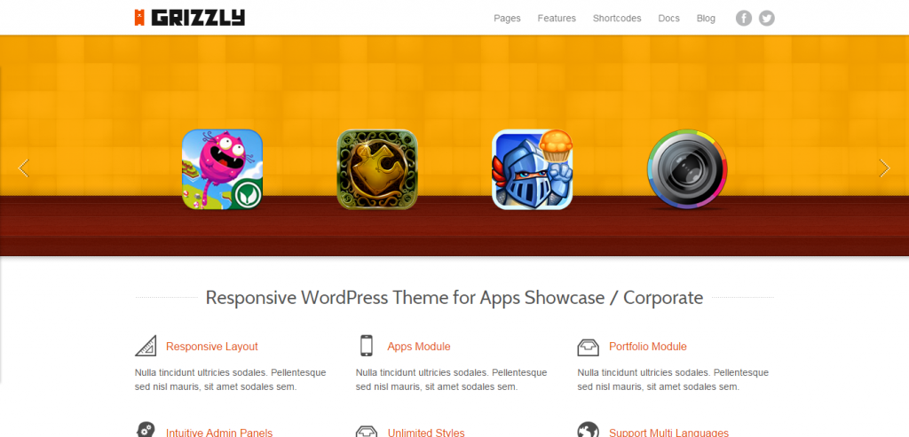 New App Landing Page WordPresss Templates