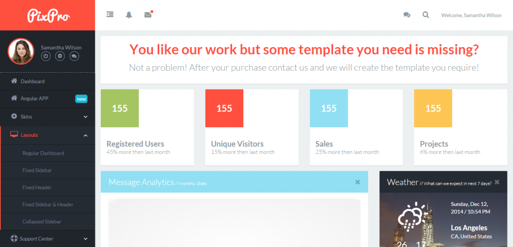 New Bootstrap HTML Admin Template