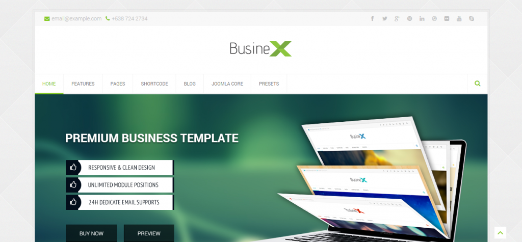 New Business Joomla Theme