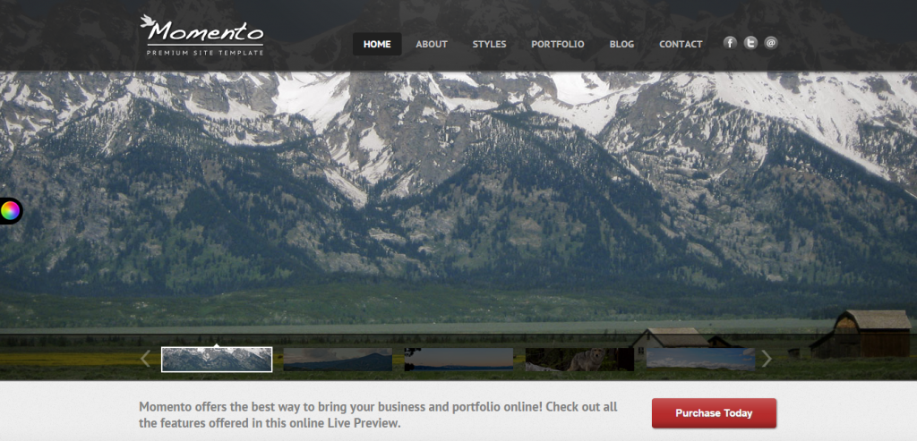 New HTML Photography Template