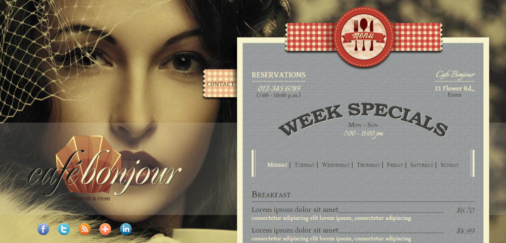 New HTML Restaurant Templates