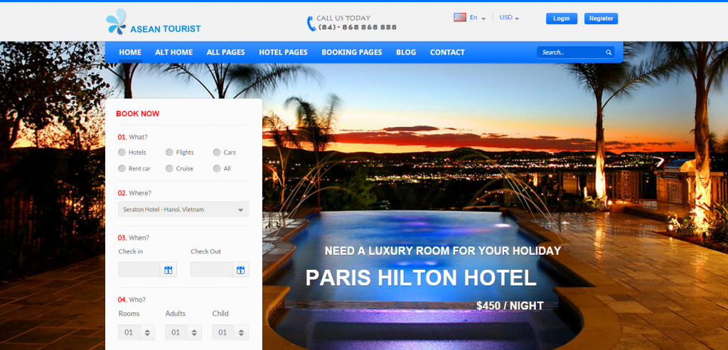 New Hotels HTML Themes