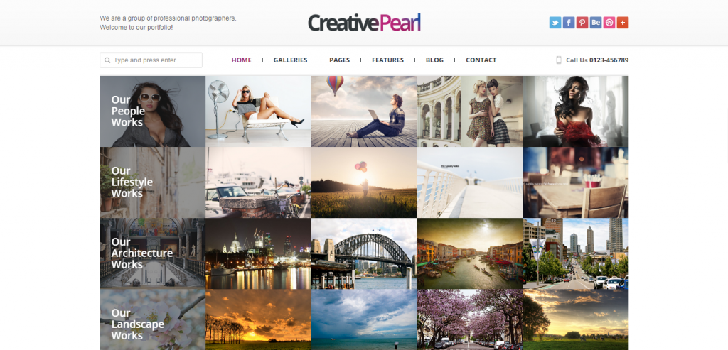 New Photography HTML Theme