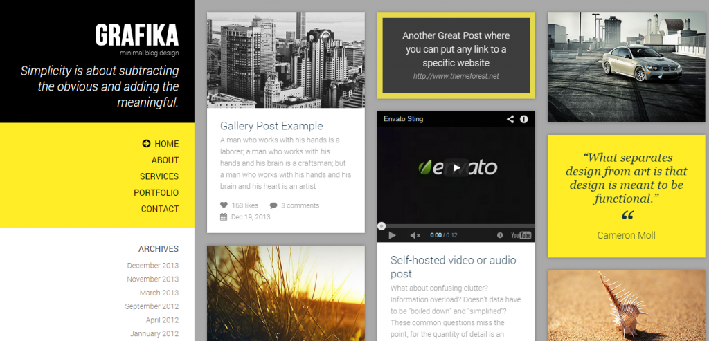 New Photography HTML Themes