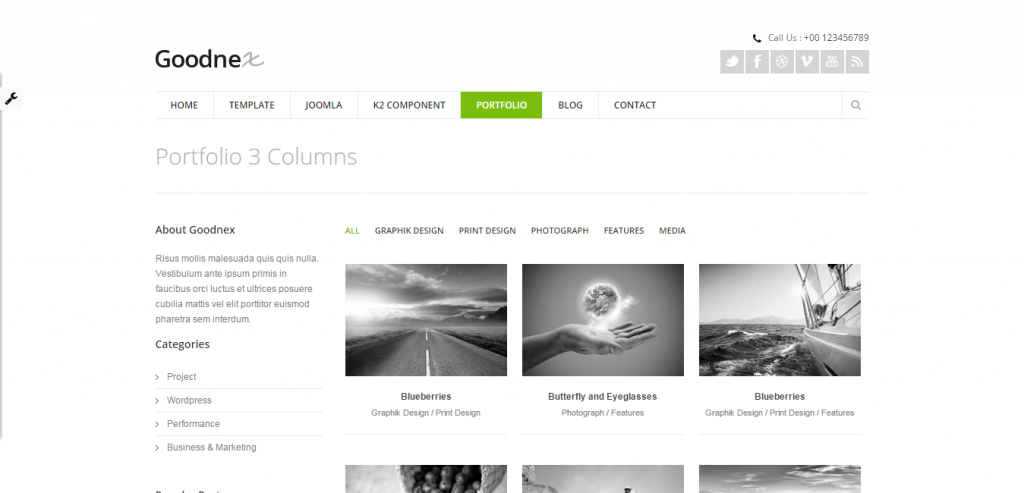 New Portfolio Joomla Template