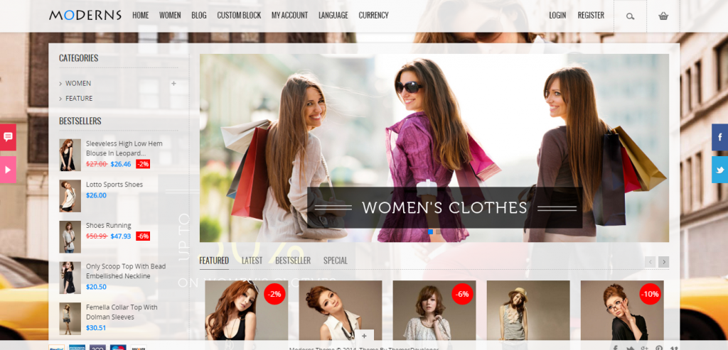 New PrestaShop Responsive Template