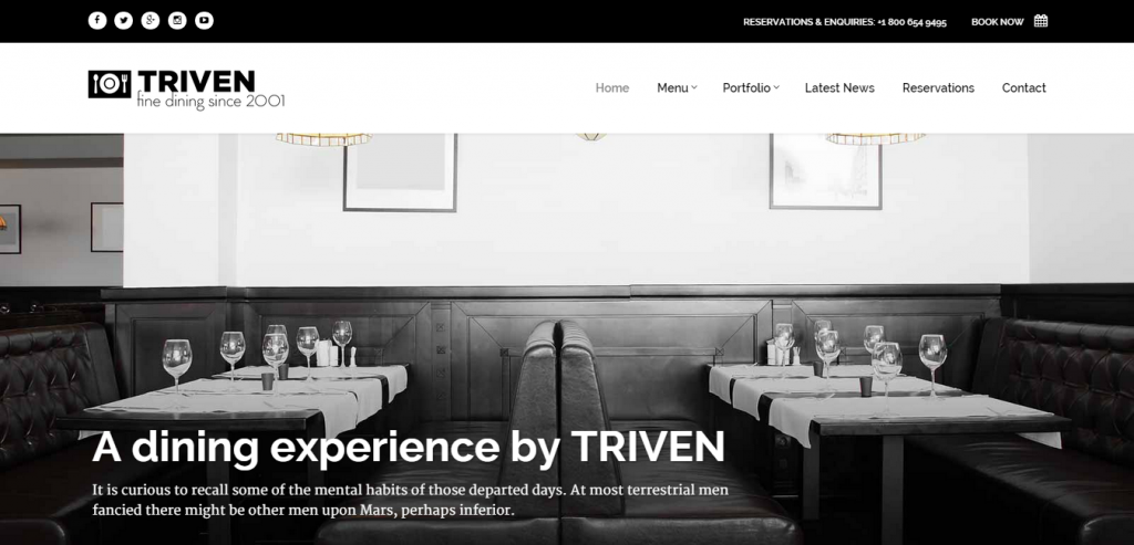New Restaurant HTML Templates