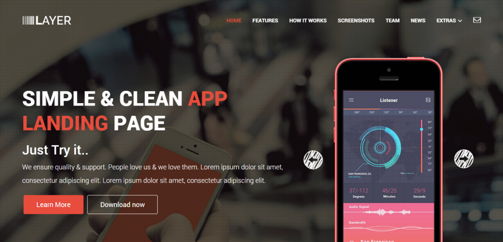 New Simple HTML Landing Page Template