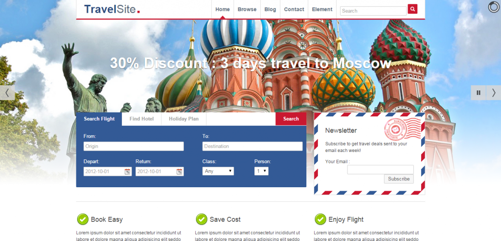 New Travel HTML Themes
