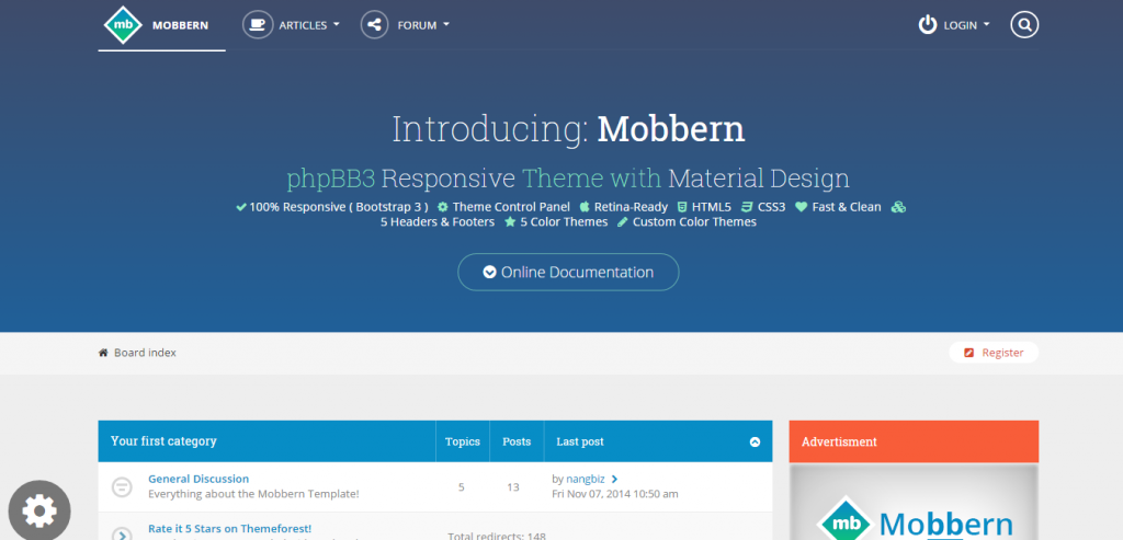 New phpBB3 CMS Themes