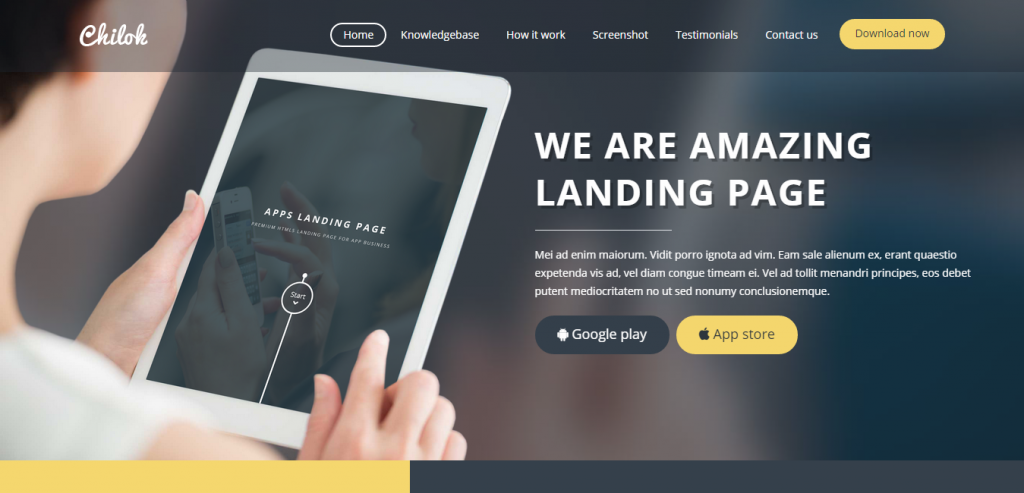 Premium Simple HTML Landing Page Template