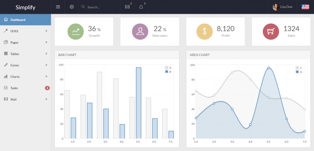 Responsive Bootstrap HTML Admin Template