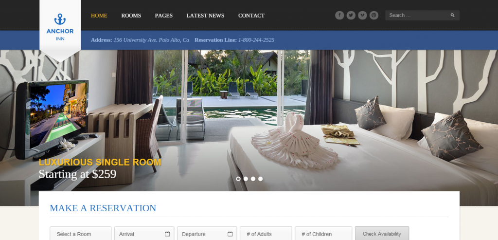 Responsive Hotels HTML Template