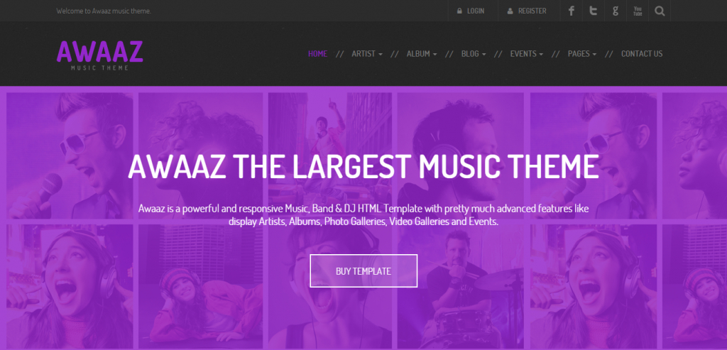 Responsive Music HTML Template
