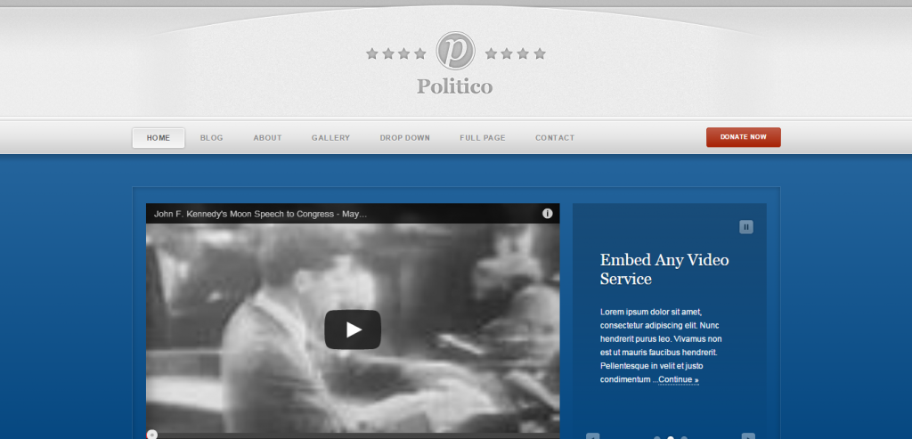 Responsive Political HTML Templates