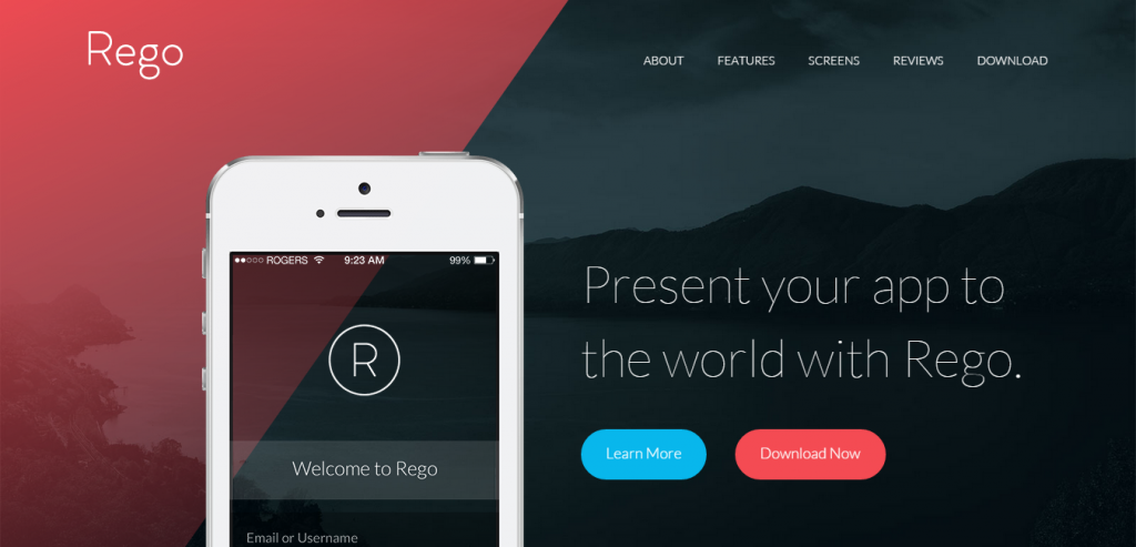 Responsive Simple HTML Landing Page Theme