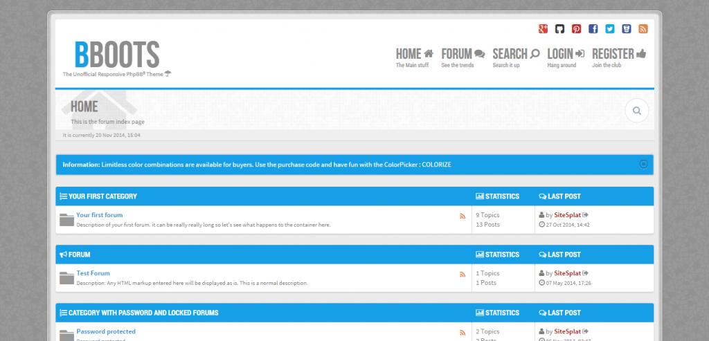 Responsive phpBB3 CMS Themes