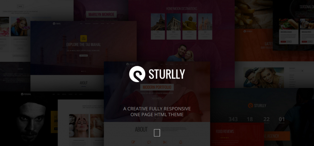 Sturlly Responsive One Page Multipurpose Joomla Template