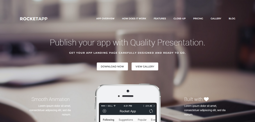 Top App Landing Page WordPresss Themes