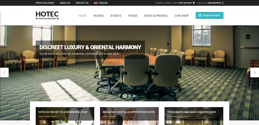 Top Hotels HTML Themes