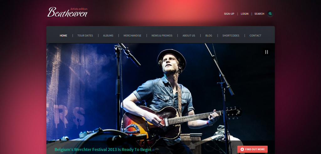 Top Music HTML Themes