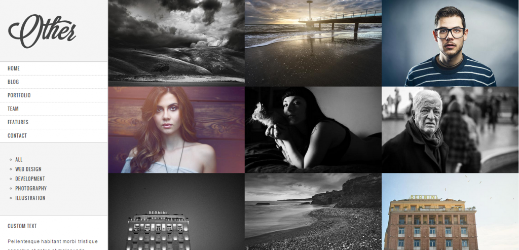Top Photography HTML Theme