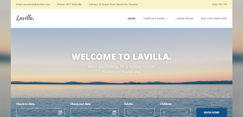 Top Travel HTML Templates