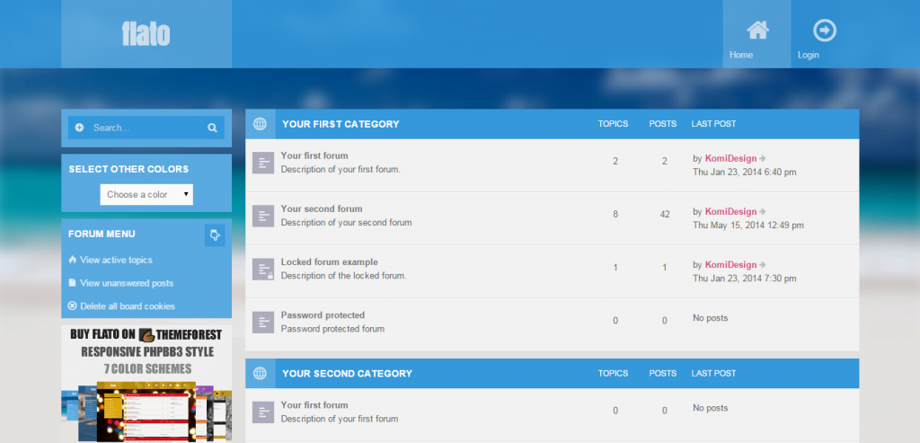 Top phpBB3 CMS Theme