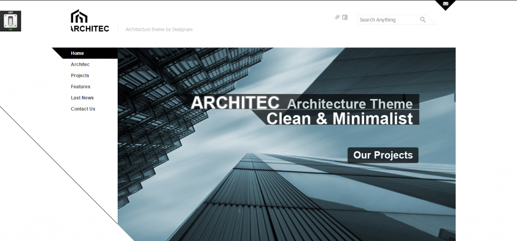 Architecture Theme by DesignareThemes