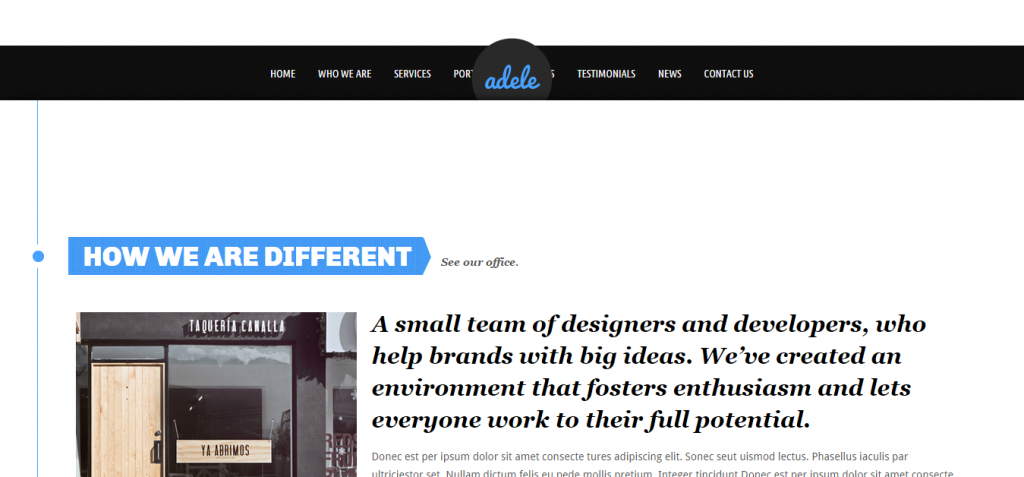 dele   Html5 and CSS3 Responsive Template   Blue   Architect