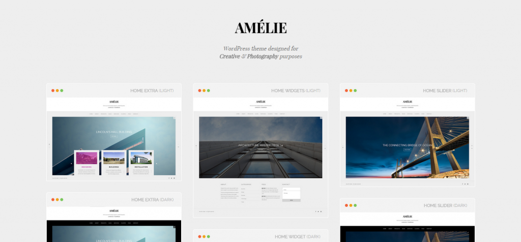 Amelie Architecture WordPress Theme