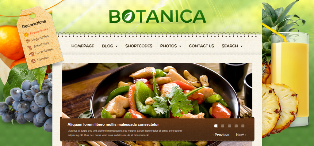 Botanica   Premium WordPress Diet Theme