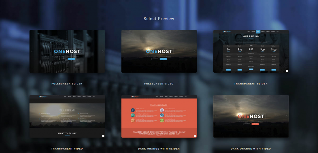 Buy Best Host Template