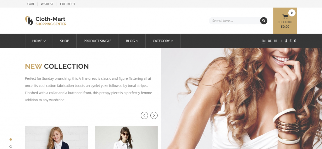 Cloth-Mart Shopping Center WordPress Theme