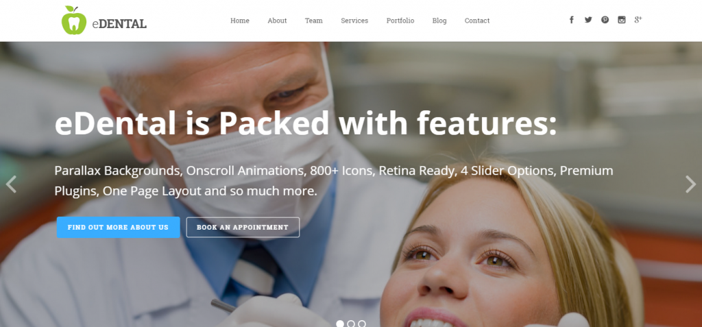Dentistry WordPress Themes