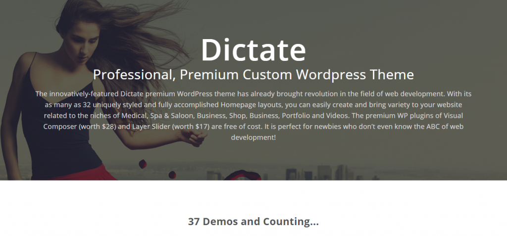 Dictate Professional Premium Custom WordPress Theme