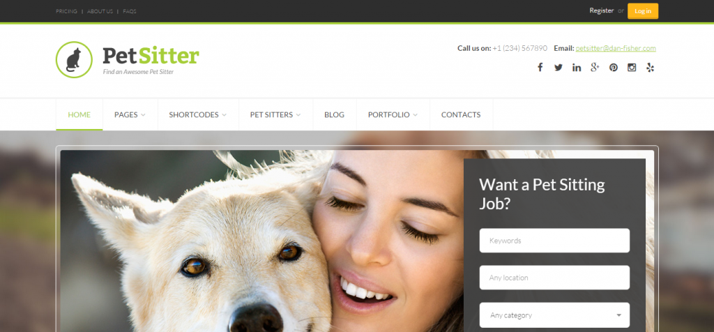 Download Pet Animal WordPress Themes