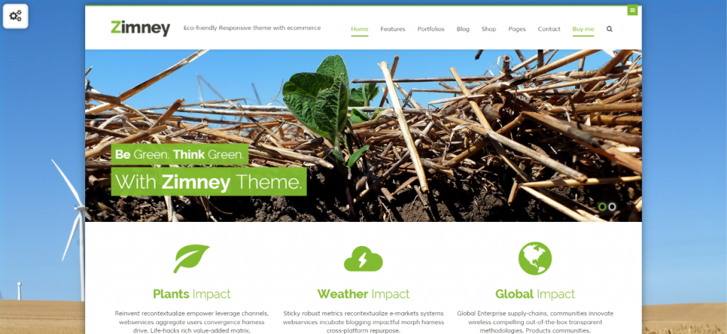 Eco-friendly Responsive theme with ecommerce
