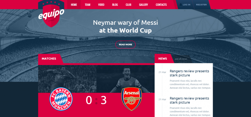 Equipo HTML Template